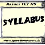 Assam TET HS Syllabus