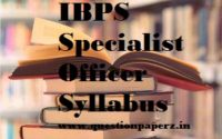 ibps 2018 so syllabus