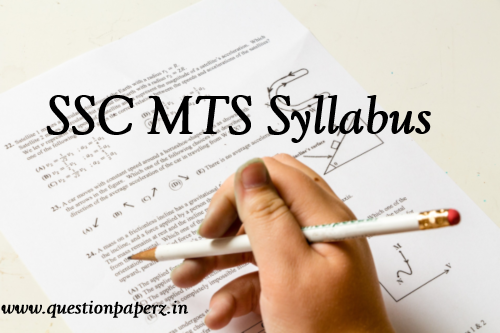 SSC MTS Exam Syllabus PDF