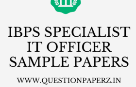 ibps specialist officer it officer sample papers