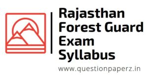 rajasthan forest guard exam syllabus