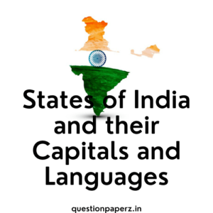 States of India and their Capitals and Languages